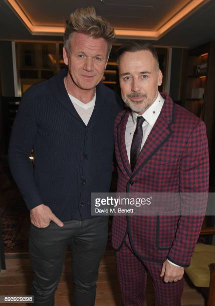 Gordon Ramsay and David Furnish attend Alexander Dundas's 18th birthday party hosted by Lord and Lady Dundas on December 16 2017 in London England