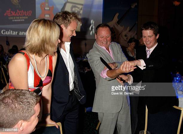 Gordon Ramsay and Gary Farrow attend the NordoffRobbins O2 Silver Clef Lunch at the Hiton Hotel Park Lane on June 29 2007 in London England