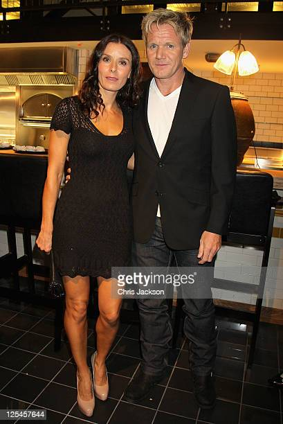 Gordon Ramsay and his wife Tana Ramsay attend the Jonathan Saunders official London Fashion Week party at Bread Street Kitchen One New Change for...