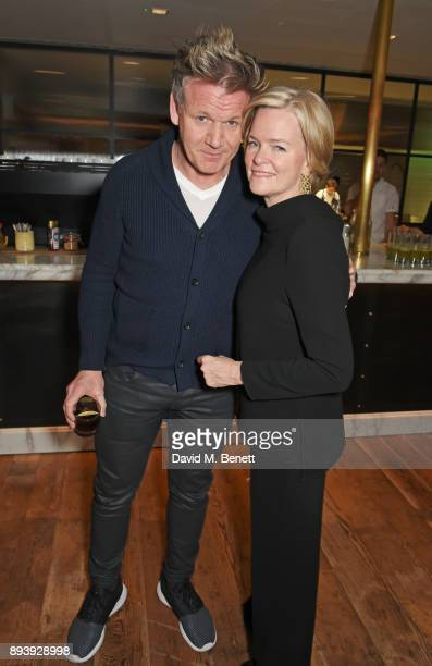 Gordon Ramsay and Ruth Kennedy Lady Dundas attend Alexander Dundas's 18th birthday party hosted by Lord and Lady Dundas on December 16 2017 in London...