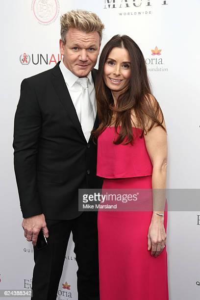 Gordon Ramsay and Tana Ramsay attend the Global Gift Gala London on November 19 2016 in London United Kingdom