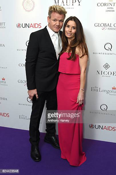 Gordon Ramsay and Tana Ramsay attend the Global Gift Gala London on November 19 2016 in London United Kingdom