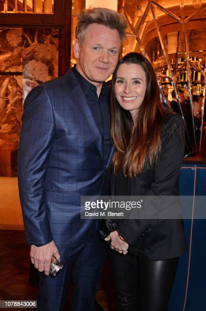Gordon Ramsay and Tana Ramsay attend the GQ dinner hosted by Dylan Jones and David Beckham to celebrate London Fashion Week Men's January 2019 at...