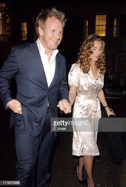 Gordon Ramsay and Tana Ramsay during Gordon Ramsay Book Launch Party October 3 2006 in London Great Britain