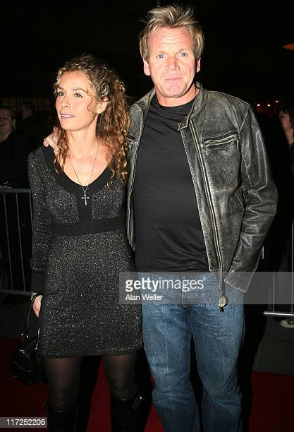 Gordon Ramsay and Tana Ramsay during Little Britain Live Stage Show Press Night Arrivals October 10 2006 at Apollo Hammersmith in London Great Britain