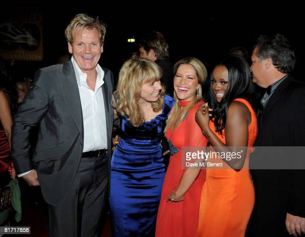 Gordon Ramsay and Tana Ramsay with Heidi Range and Keisha Buchanan attend the dinner in honour of Nelson Mandela celebrating his 90th birthday at...