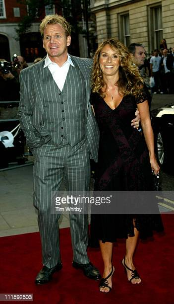 Gordon Ramsay and wife Tana Ramsay during 2005 GQ Men of the Year Awards Outside Arrivals at Royal Opera House in London Great Britain
