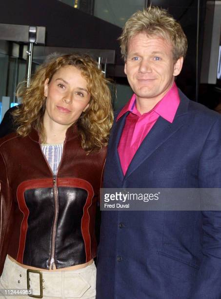 Gordon Ramsay and wife Tana Ramsay during 'The Matrix Reloaded' London Premiere at Odeon Leicester Square in London Great Britain