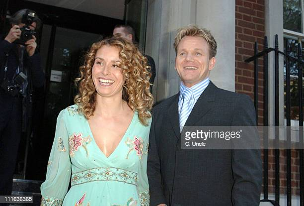 Gordon Ramsay and wife Tara Ramsay during Maze Restaurant Launch Party at London Marriott Hotel in London Great Britain