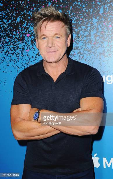 Gordon Ramsay arrives at 'Carpool Karaoke The Series' On Apple Music Launch Party at Chateau Marmont on August 7 2017 in Los Angeles California