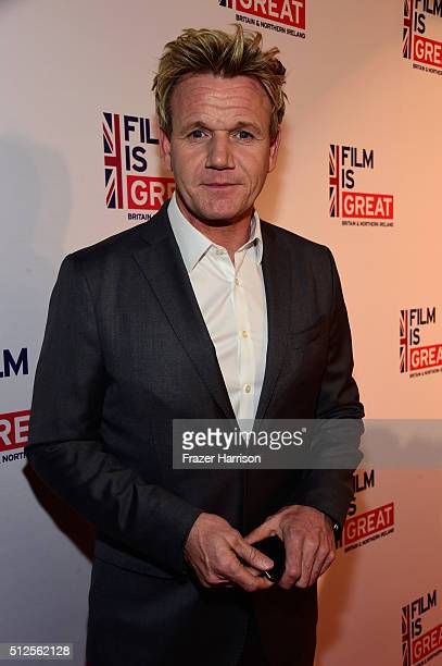 Gordon Ramsay attends the Film is GREAT Reception at Fig Olive on February 26 2016 in West Hollywood California