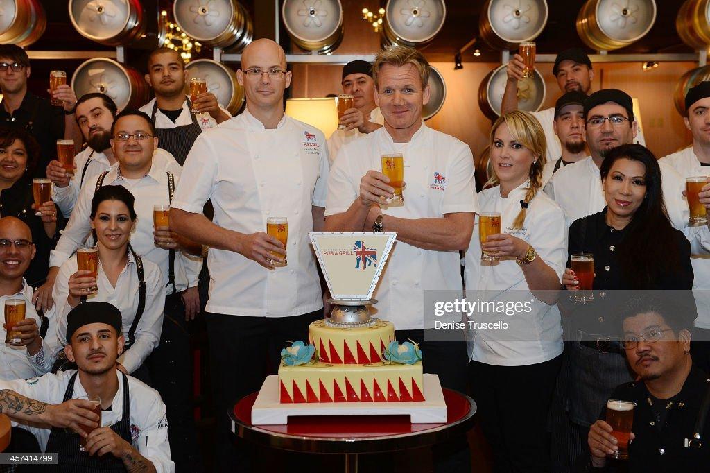 Gordon Ramsay Celebrates The One Year Anniversary Of Gordon Ramsay Pub & Grill at Caesars Palace