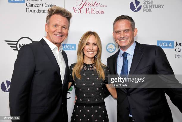 Gordon Ramsay Dana Walden and President of Alternative and Reality Group for NBC Entertainment Paul Telegdy attend UCLA Jonsson Cancer Center...