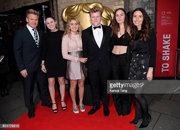 Gordon Ramsay Holly Anna Ramsay Matilda Ramsay Jack Scott Ramsay Megan Jane Ramsay and Tana Ramsay attend the BAFTA Children's Awards at The...