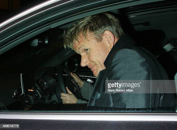 Gordon Ramsay leaving Chakana night club on December 19 2013 in London England