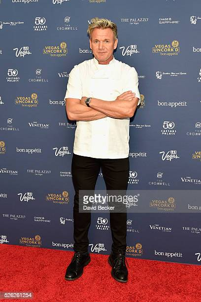 Gordon Ramsay on the Red Carpet at Vegas Uncork'd by Bon Appetit presented by Chase Sapphire Preferred 10th anniversary Grand Tasting at Caesars...