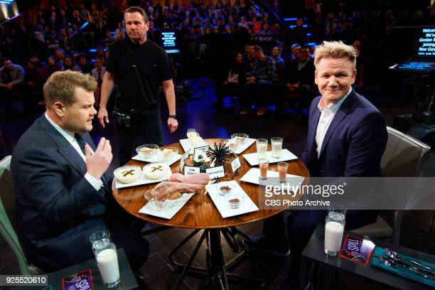 """Gordon Ramsay plays Spill Your Guts or Fill Your Guts with James Corden during """"The Late Late Show with James Corden,"""" Tuesday, February 27, 2018 On..."""