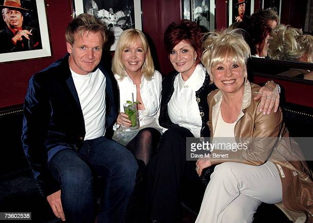 Gordon Ramsay Sally Green Sharon Osbourne and Barbara Windsor attend private party at Ronnie Scott's hosted by Gary Farrow on March 15 2007 in London...