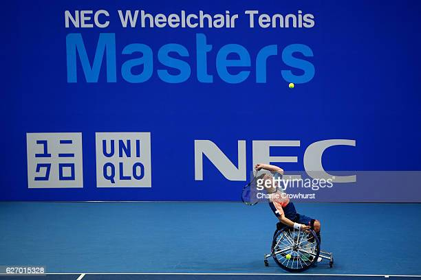 Gordon Reid of Great Britain in action during his round robin mens singles match against Gustavo Fernandez of Argentina on Day 2 of NEC Wheelchair...