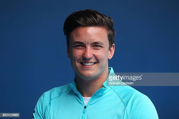 Gordon Reid of Great Britain poses during the Australian Open Wheelchair Championships official draw on day eight of the 2017 Australian Open at...