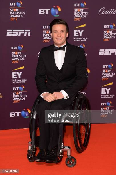 Gordon Reid poses on the red carpet during the BT Sport Industry Awards 2017 at Battersea Evolution on April 27 2017 in London England The BT Sport...