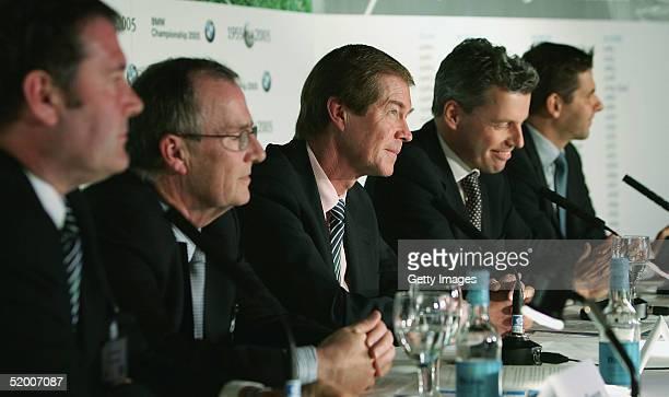 Gordon Simpson European Tour Jim O'Donnell of BMW George O'Grady Excutive Director of the European Tour Torsten MullerOtvos and Michael Kirsch of BMW...