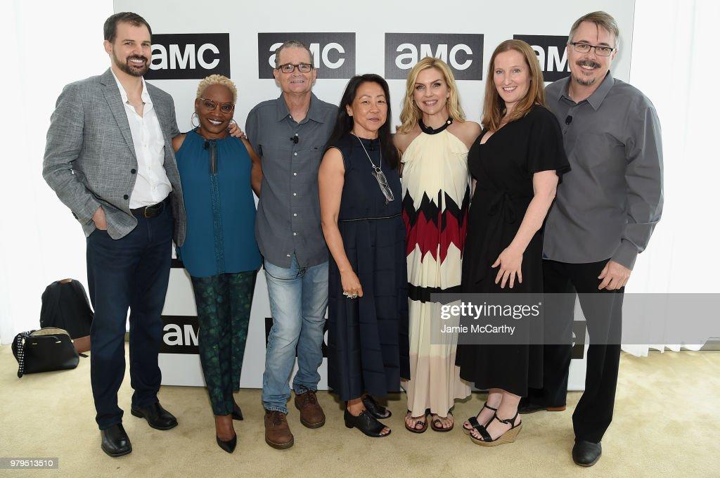 Gordon Smith, Jennifer Bryan, Marshall Adams, Judy Rhee, Rhea Seehorn, Melissa Bernstein, and Vince Gilligan attend the AMC Summit at Public Hotel on June 20, 2018 in New York City.