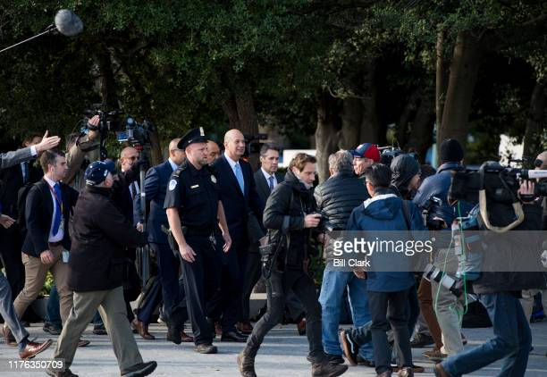 Gordon Sondland US ambassador to the European Union arrives at the Capitol for his deposition as part of the House's impeachment inquiryon Thursday...