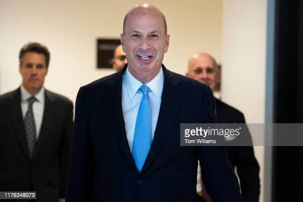 Gordon Sondland US ambassador to the European Union arrives to the Capitol for his deposition as part of the House's impeachment inquiry on Thursday...