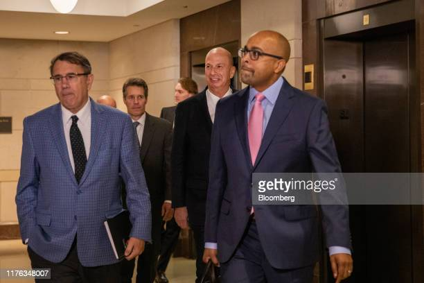 Gordon Sondland US ambassador to the European Union center arrives for closeddoor testimony before House committees on Capitol Hill in Washington DC...