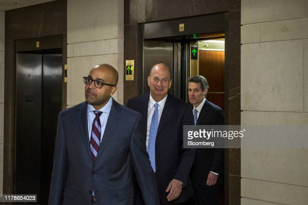 Gordon Sondland US ambassador to the European Union center arrives before meeting with the House Intelligence Committee on Capitol Hill in Washington...