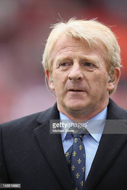 Gordon Strachan ex footballer and manager and BBC football commentator during the npower Championship match between Southampton and Coventry City at...