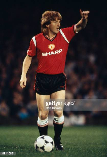 Gordon Strachan in action for Manchester United against Ipswich Town at Portman Road in Ipswich, 20th August 1985. Manchester United won 1-0.