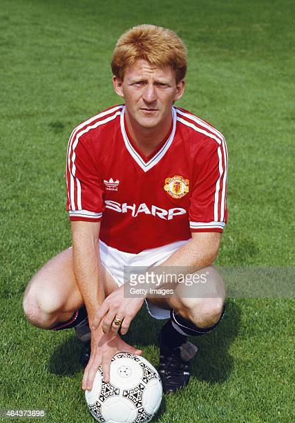 Gordon Strachan pictured at the Manchester United photocall ahead of the 1987/88 season
