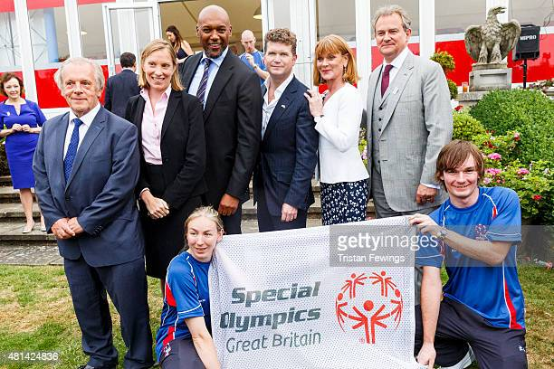 Gordon Taylor Minister for Sport Tracey Crouch Colin Salmon Samantha Bond and Hugh Bonneville attend a reception hosted by the US Ambassador Matthew...