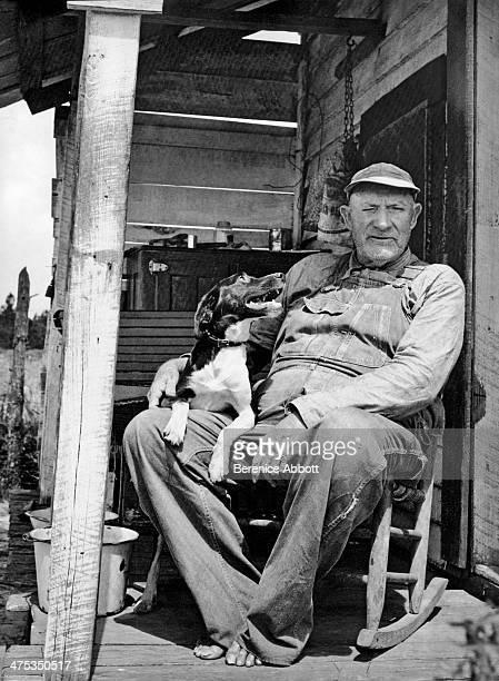 S S Gordon with his dog Waycross Georgia United States 1954