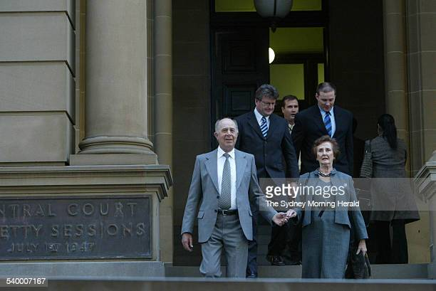 Gordon Wood Case Tony Byrne and June Dally Watkins at the Central Local Court in Sydney on 4 May 2006 where Gordon Wood was charged with the murder...
