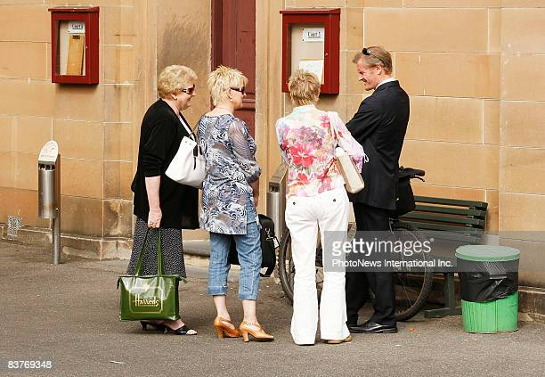 Gordon Wood leaves Darlinghurst Court with his mother Brenda Wood and sisters Jacqueline and Michele on November 17 2008 in Sydney Australia Wood was...
