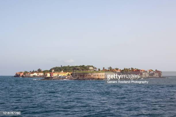 gorée island, senegal - dakar senegal stockfoto's en -beelden