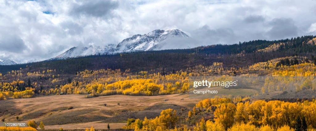 Gore Range autumn view : Stock Photo