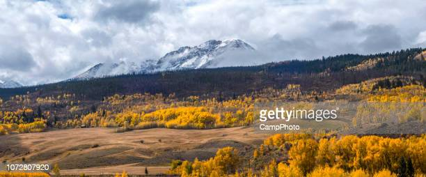 gore range autumn view - gore range stock photos and pictures