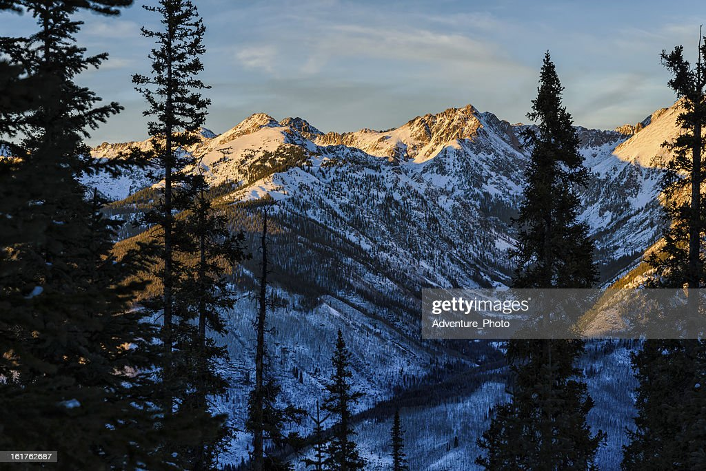 Gore Range Mountain Landscape in Winter : Stock Photo