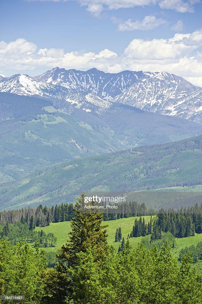 Gore Range Mountains in Summer Colorado USA : Stock Photo