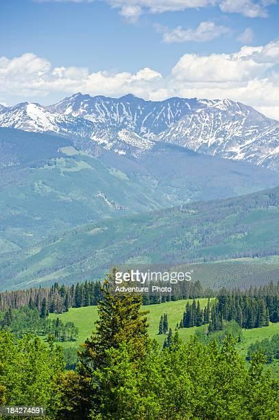 gore range mountains in summer colorado usa - gore range stock photos and pictures