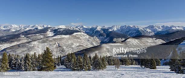 Gore Range Mountains Panoramic Colorado in Winter