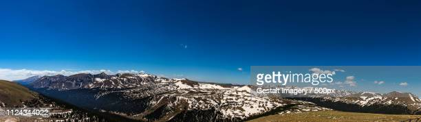 gore range overlook in rocky mountain national park - gore range stock photos and pictures