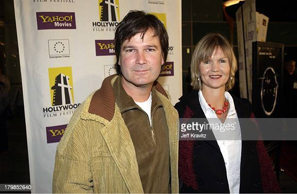 Gore Verbinski and wife Clayton during Hollywood Film Festival's Opening Night Film World Premiere of The Ring at The ArcLight in Hollywood CA United...