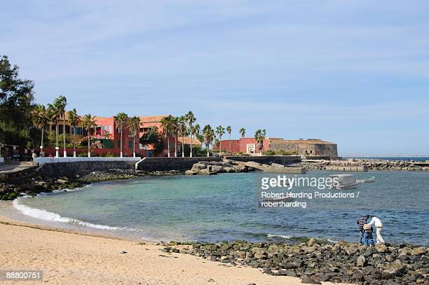 goree island famous for its role in slavery, near dakar, senegal, west africa, africa - dakar senegal stock pictures, royalty-free photos & images