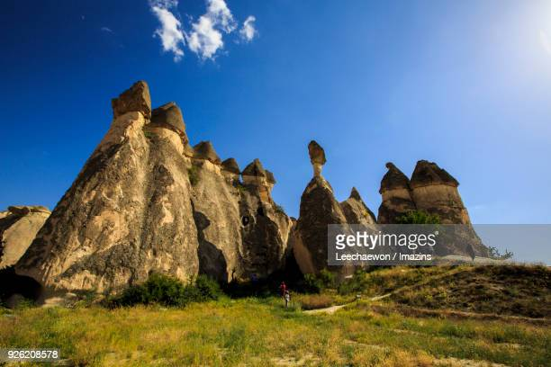 goreme national park and the rock sites of cappadocia - central anatolia stock photos and pictures