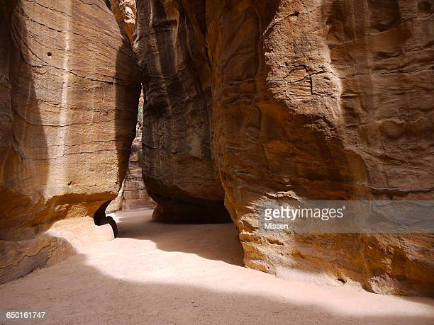 Gorge in sunlight, Petra, Jordan